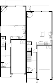 duplex floor plans for narrow lots duplex house plans narrow duplex house plans d 542
