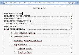 cara membuat garis pada daftar isi makalah pondok microsoft office january 2014