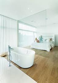 Open Bedroom Bathroom by Villa G By Saunders Architecture Open Plan Bathrooms Open Plan