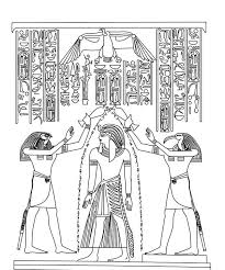 flag of egypt coloring page anointing of pharaoh by horus and thoth god in ancient egypt