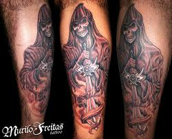 grim reaper with sword tattoo design tattoos book 65 000