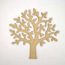 mdf tree shape craft blank make your own wooden family tree ebay