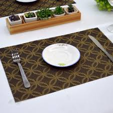 large plastic table mats non slip placemat washable table mats pvc dining mat table mats for