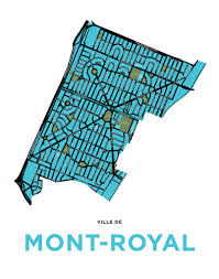 Map Of Montreal Town Of Mont Royal Map Print Residential Only U2013 Jelly Brothers