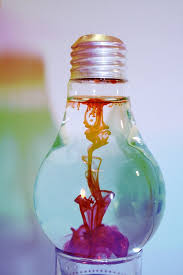 this is so pretty it u0027s paint inside a light bulb for our led