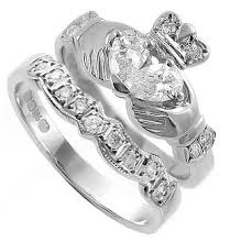 claddagh engagement ring claddagh ring set with heart shaped diamond claddagh ireland