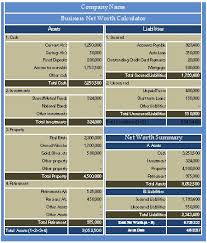 download business net worth calculator excel template exceldatapro