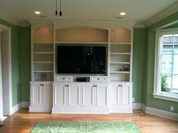 Living Room Cabinets Built In by Shaker Style Built In Media Center Living Room Charleston By