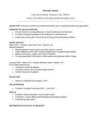 Resume Sample Medical Assistant by Certified Medical Assistant Resume Free Resume Example And