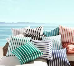 sunbrella brice stripe indoor outdoor pillow pottery barn