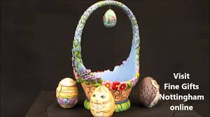 jim shore easter baskets jim shore easter basket with eggs figurine glorious things of
