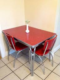 retro chrome kitchen table and chairs 1950s 1950s style tables