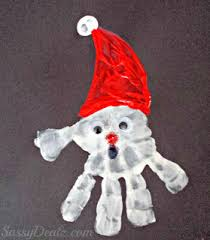handprint santa claus craft for crafty morning