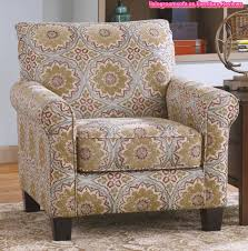 Patterned Armchair Design Ideas Roll Arm Accent Chair With Antique Fabric Pattern