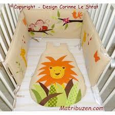 rideau chambre bébé jungle tour de lit jungle turbulette gigoteuse naissance linge de lit