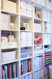 Baskets For Bookshelves Organization Ideas For Office Or Craft Room Neat And Colorful