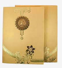 wedding cards design wedding card in golden with floral design ganesha design