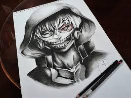 kaneki ken realistic sketch tokyo ghoul by setsunayuuki on