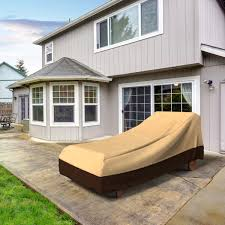 Extra Large Garden Furniture Covers - extra large outdoor chaise lounge cover khaki brown empirepatio