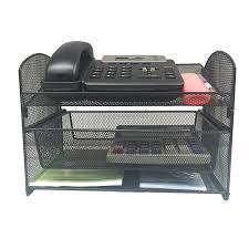 telephone stand desk organizer amazon com vanra metal mesh desktop organizer telephone stand