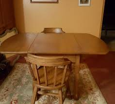Drop Leaf Oak Table Brandt Ranch Oak Dining Table Drop Leaf With 3 Leaves 2 Chairs