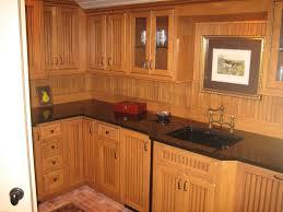 Cabin Cabinets Home Design Beadboard Backsplash Dark Cabinets Cabin Gym