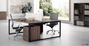Office Desk Walnut Oak And Walnut Office Desks Wood Veneer Desks Spaceist Office