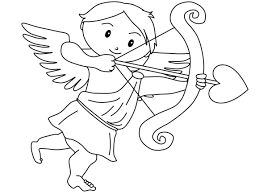 kitty coloring pages valentines cupid cartoon coloring