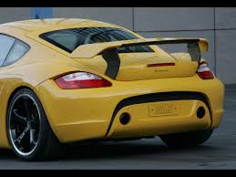 porsche widebody rear 2007 techart widebody based on porsche cayman s rear section
