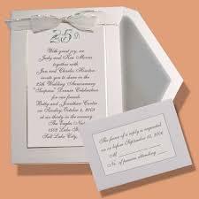 silver wedding anniversary invites paperinvite