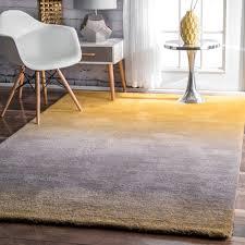 nuloom handmade soft and plush ombre shag yellow rug 4 u0027 x 6