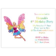 personalised birthday party invitations or thank you cards barbie