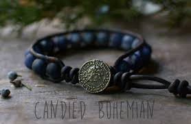 my tribe men u0027s leather bracelet yoga jewelry leather beaded