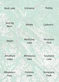 Banff National Park Map Banff And Jasper National Parks