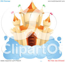 Castle On A Cloud Royalty Free Rf Castle In The Sky Clipart Illustrations Vector