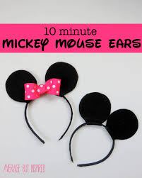 minnie and mickey mouse halloween costumes for adults how to make your own mickey or minnie mouse ears