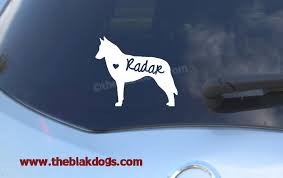 belgian malinois new zealand belgian malinois silhouette vinyl sticker personalized car decal