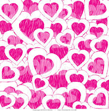 vector clipart of a valentine u0027s day background of pink doodle