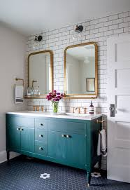 Painted Vanities Bathrooms Friday Favorites Marbling Wallpaper And An Awesome Diy Kitchen