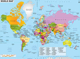 World Physical Map by World Physical Political Map