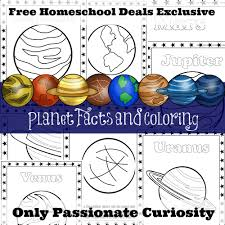 free planet facts and coloring pages instant download free
