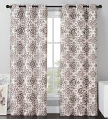Brown Blackout Curtains Vcny Sylvia Blackout Window Curtains Grommet Thermal 2 Panel Set