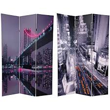 Asian Room Dividers by Amazon Com Oriental Furniture 6 Ft Tall New York State Of Mind