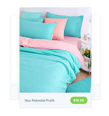wholesale bedding to sell online with oberlo for free