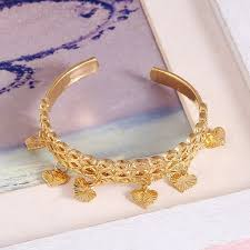 child charm bracelet images Small bangle for girls baby gold color charm bracelet small heart jpg