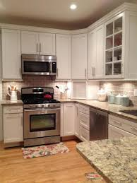 Kitchen Microwave Cabinets In This Kitchen Renovation We Installed Medallion Silverline Maple