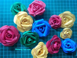 tutorial kerajinan tangan dari kertas gulung 25 tutorial kerajinan kreasi bunga dari berbagai bahan bintangtop