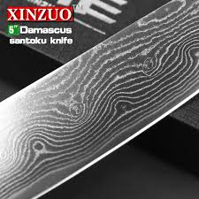 japanese damascus kitchen knives 5 inches santoku knife japanese vg10 damascus kitchen knives