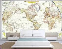 world map wall mural old map wallpaper vintage old map