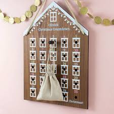 personalised advent calendar house by create gift love